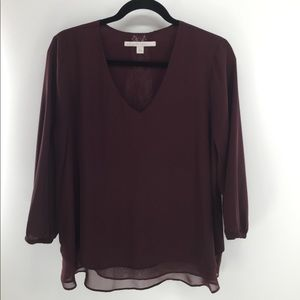 LC Lauren Conrad mid sleeve blouse Sz L